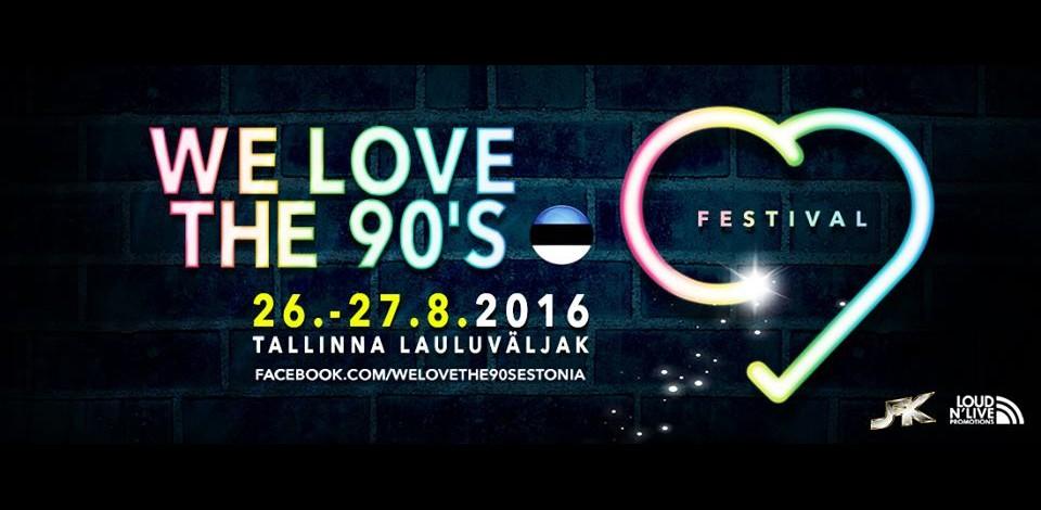 Suurfestival We Love the 90s avaldas staaride esinemispäevad