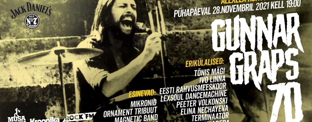 Gunnar Grapsi 70. sünniaastapäeva mälestuskontsert toimub 28. novembril Alexela Kontserdimajas.