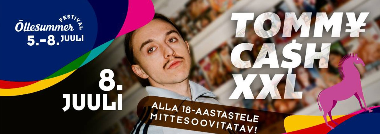 ON 8 JULY, THE MAIN STAGE OF THE ÕLLESUMMER FESTIVAL WILL TRANSFORM INTO A PSYCHEDELIC WORLD OF TOMMY CASH !