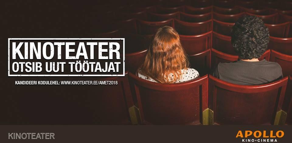 Kinoteater otsib inimest, kes vaataks ära kõik 2018. aasta teatrilavastused