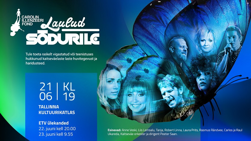 2018. aasta heategevuslik kontsert ''Laulud sõdurile'' toimub esmakordselt Tallinnas!